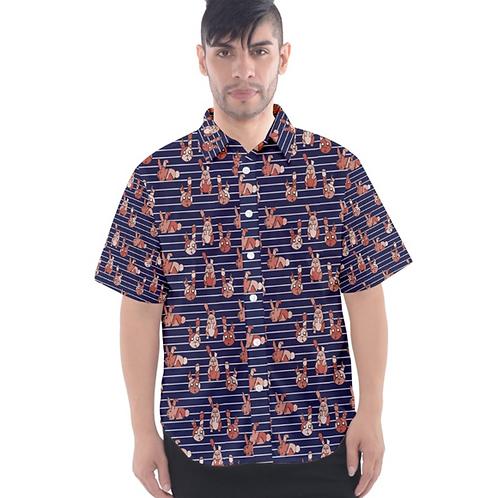 ZomBunny Button Down Shirt (Unisex)