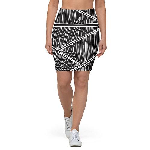 Dark Web Pencil Skirt
