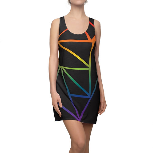Fractured Rainbow Racerback Dress