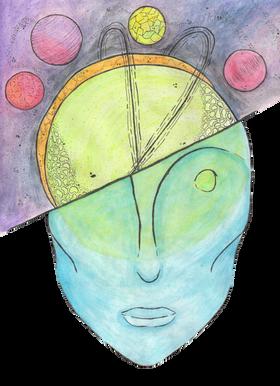 Blue Galaxy Head
