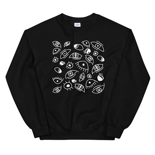All Eyes Sweatshirt - Black