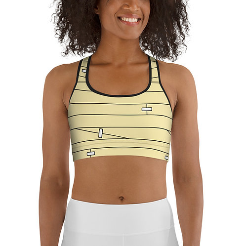 Wounded Sports bra - beige