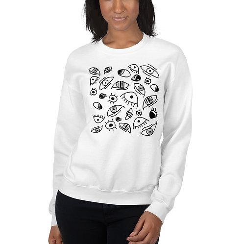 All Eyes Sweatshirt - White