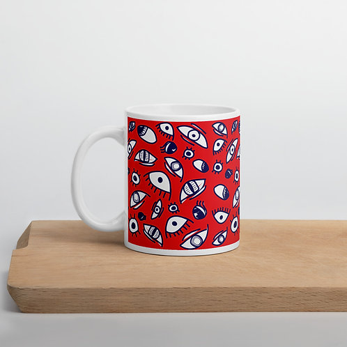 All Eyes on this Mug - Red