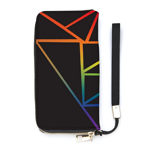 Fractured Rainbow Long Wallet