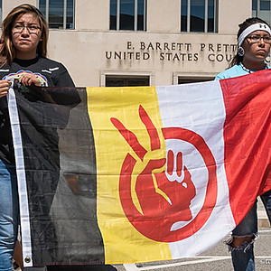 NoDAPL Protest at Washington DC Federal Court House