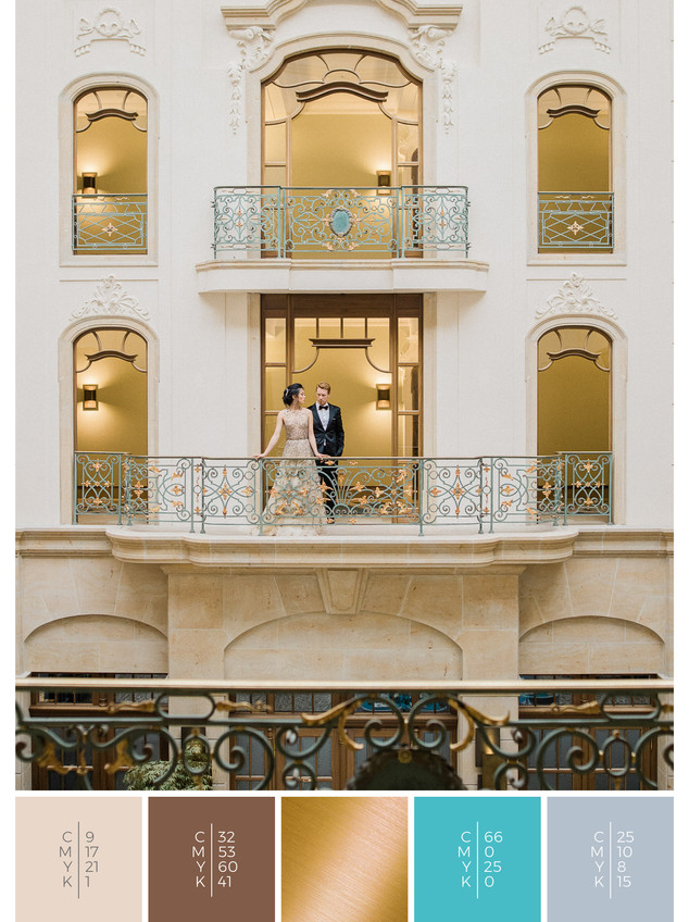 A perfect wedding location in Germany for a glamorous wedding in shades of turquoise and gray.
