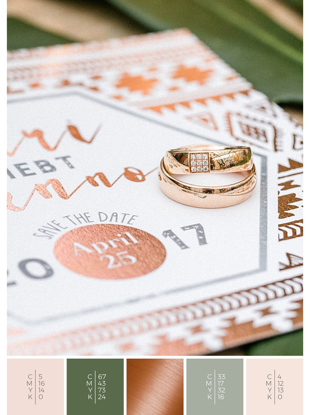 Unique and boho wedding rings.