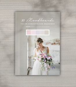 "Book 2 of ""50 Moodboards – Color Concepts for Weddings"" by Andrea Wolf and Evi Hagenlocher."