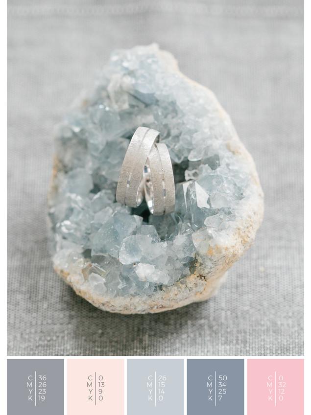 Unique and minimalist wedding rings.
