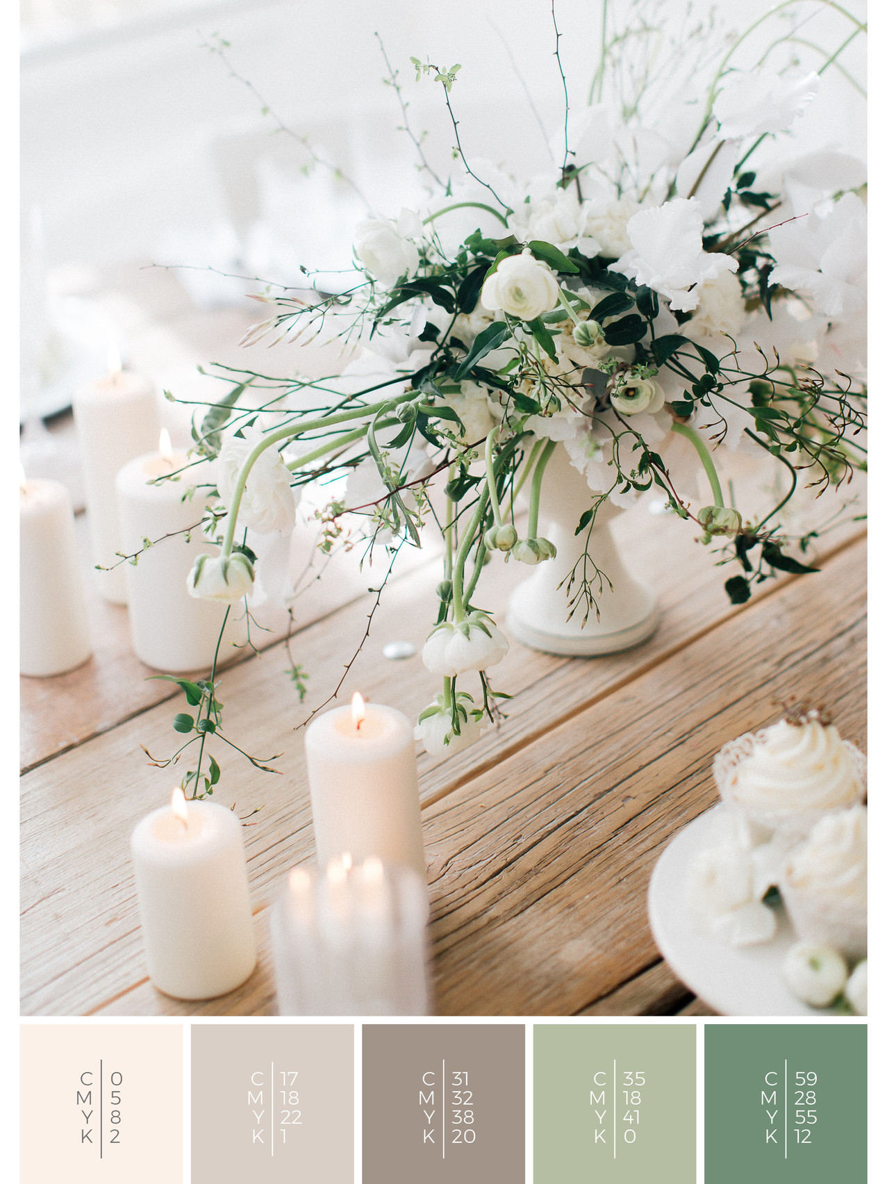 These wedding favors for guests fit to the color scheme palette in white. DIY for your wedding in spring.