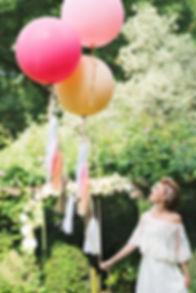 Большие воздушные шары с тассел гирляндой