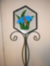Hexagon garden stake.JPG