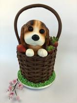 Cute puppy cake