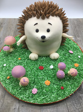 Cute hedgehog cake