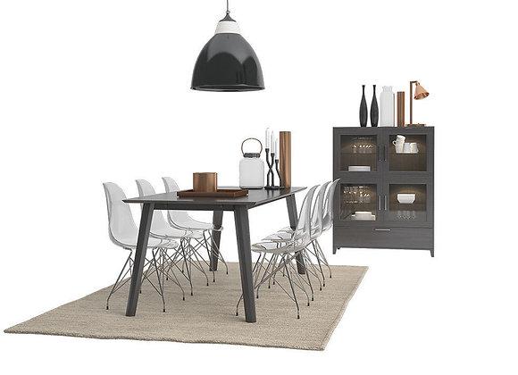 Crystal Cokko Dining Furnitures Set | 3dmodel