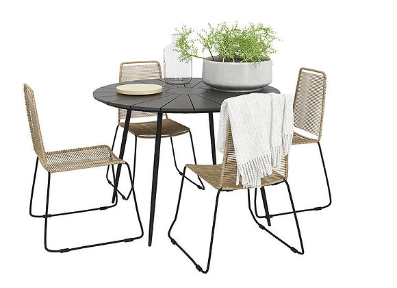 Prato Outdoor table with four Joy chairs | 3dmodel