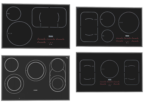 Mixed Induction Hobs 2  | 3dmodel