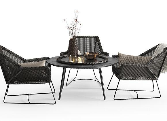 Modern Outdoor Braided Furnitures Set