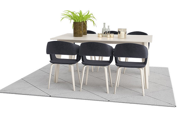 Nordic Odense Dining Table Set with Nordic Flow Chairs 3D model | 3dmodel