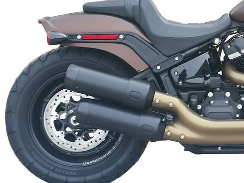 2018-Up FAT BOB Black  - Tip Compatible Exhaust Pipes