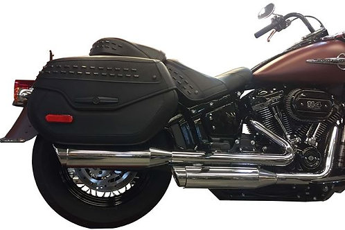 SOFTAIL Short Chrome Tip Compatible Exhaust Pipes