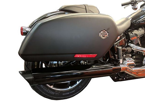 SPORT GLIDE Black - Tip Compatible Exhaust Pipes
