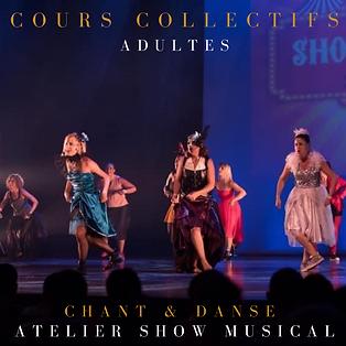 COURS COLLECTIFS ADULTES chant et danse