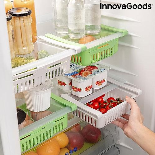 Reguliuojamas šaldytuvo dėklas - stalčius Friwer InnovaGoods (2 vnt.)