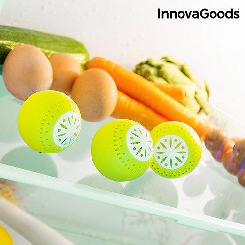 InnovaGoods gaivūs šaldytuvo kamuoliukai, 3 vnt.