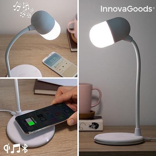 LED lempa su garsiakalbiu ir belaidžiu įkrovikliu Akalamp InnovaGoods
