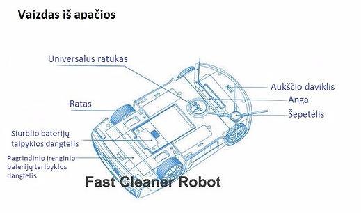 Robotas dulkių siurblys QQ4