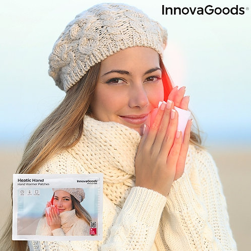 Rankas šildantys pleistrai Heatic Hand InnovaGoods, 10 vnt.