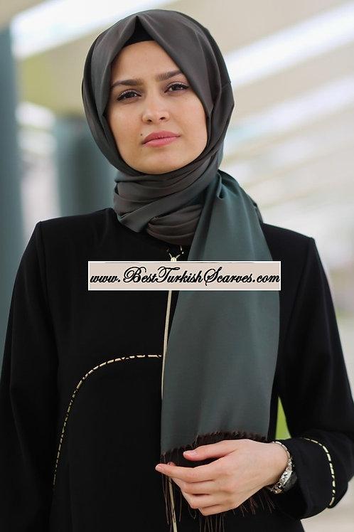 Isra Premium Scarf/Hijab/Shawl-Green/brown