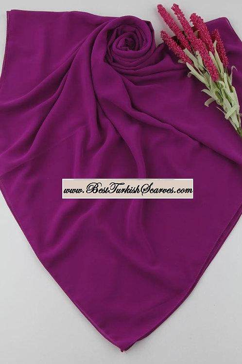 Big size chiffon scarf/hijab-Magenta