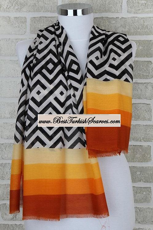 Five 5 motif design shawl/hijab- model 1