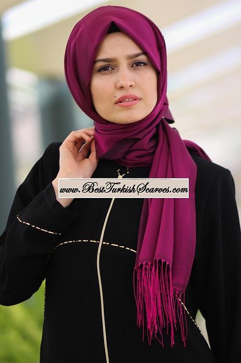 Isra Premium Scarf/Hijab/Shawl-Purple