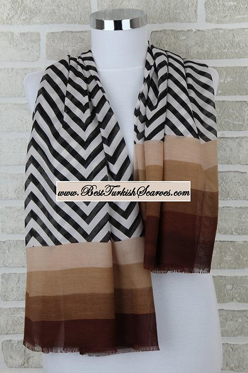 Five 5 zigzag shawl/hijab- model 5