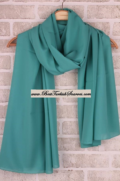 Medina Silk Chiffon Shawl/Scarf/Neck Wrap-Green 2