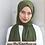 Thumbnail: Medina Silk-Chiffon Shawl/Scarf/Neck Wrap-Olive green
