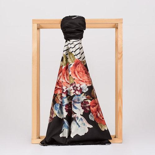 Floral Collection- 5112-Gul Sepeti-Siyah