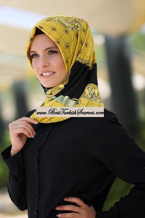 Salvio Muscari Rayon Scarf/hijab-Gold