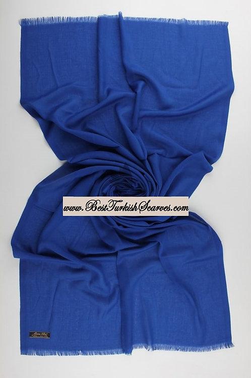 Pashmina shawl-Saks blue