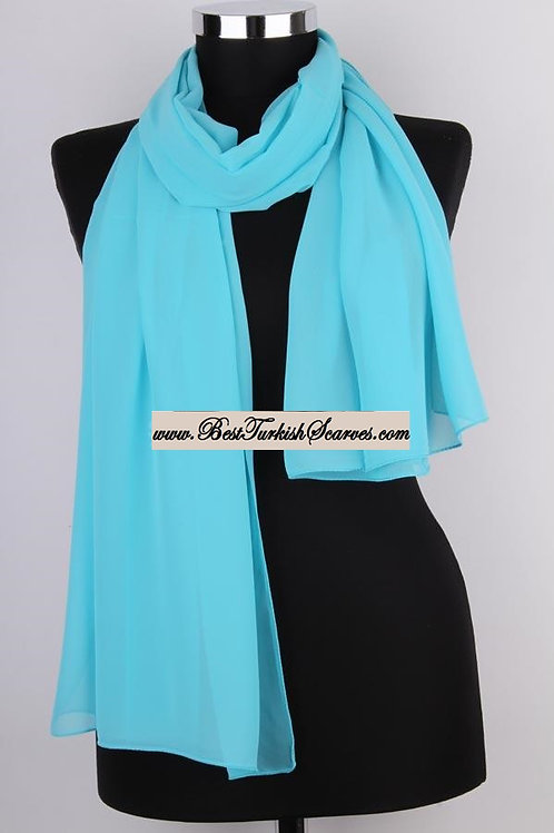 Plain Chiffon Shawl/Scarf/Neck Wrap
