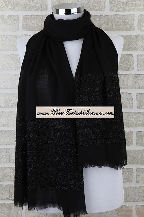 Isra shimmer shawl/hijab/scarf -Black