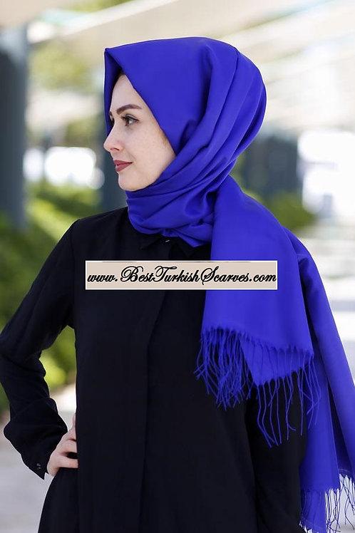 Arnisa Taffeta Scarf/Hijab/Shawl-Saks blue