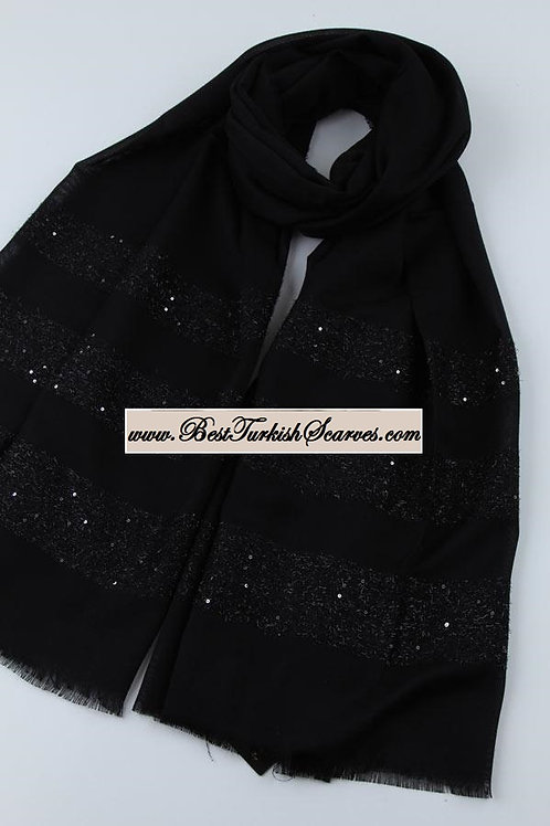 Esarp home exclusive shimmer shawl/hijab/scarf-Black