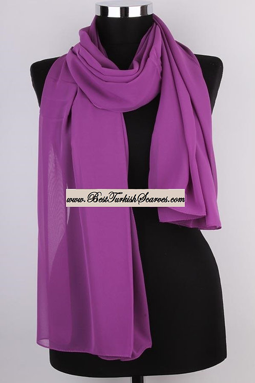 Plain Chiffon Shawl/Scarf/Neck Wrap-mor