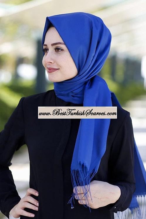 Arnisa Taffeta Scarf/Hijab/Shawl-Indigo