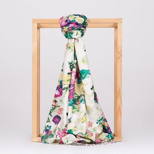 Floral Collection- 2394-Gul Bahcesi-Ekru/Yesil